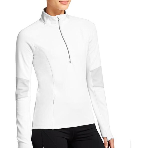 Athleta Jackets & Blazers - Athleta Lunar Half-Zip in White
